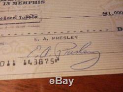 Elvis Presley signed graceland archives check rare