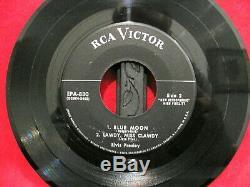 Elvis Presleymega Rare 1956no Dog Silver Line Rca Labelepa-830no Ps 45 Only