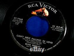 Elvis Presleymega Rarecan't Help Falling In Loveorange Dogrca Pop 45