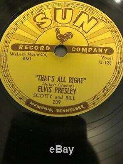 Elvis Thats All Right Sun 209 Very Rare VG+ Holy Grail