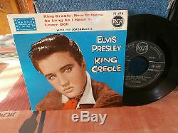 Elvis presleyking créole n°1ep7fr. Rca area75474. Noir-de1959biem rare version