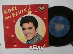 Elvis presleynoel avec elvisep7fr or. Rca area85249-1ére presse rare 1958