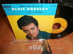 Elvis presleyrock and roll n°4ep7or. Fr. Rca victor. Biem 86292 lbl orange rare