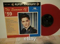 Elvis presleythe summer of 59lp10viklp1058r. Or. Ger. Vinyl rouge moucheté rare