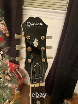 Epiphone E-j200 Elvis Presley Guitar Acoustic Electric (rare)