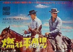 FLAMING STAR Japanese B3 movie poster ELVIS PRESLEY 1960 RARE