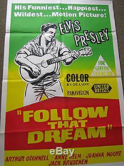 FOLLOW THAT DREAM original ELVIS PRESLEY -RARE ONE SHEET poster
