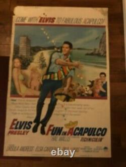 Fun In Acapulco Original 40 x 60 Rare Movie Poster- Elvis Presley
