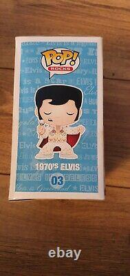 Funko Pop Rocks Elvis 1970s #03 Vaulted Rare 2011 First Release NIB WithP Grail