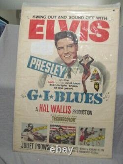 G. I. BLUES 1960 ELVIS PRESLEY Rare Movie Poster 27 x 41