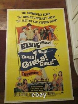 Girls, Girls, Girls Original 40 x 60 Rare Movie Poster- Elvis Presley