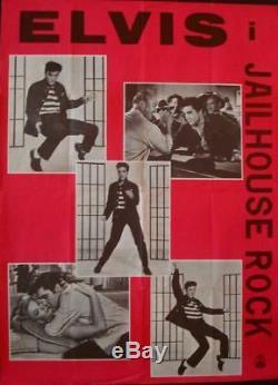 JAILHOUSE ROCK ELVIS PRESLEY Danish A1 movie poster 1959 VERY RARE