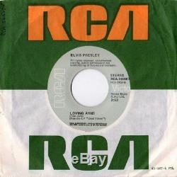 King ELVIS Presley'74 MY BOY / Lovin Arms 45 US/UK Mega Rare GREEN INSERT SLICK