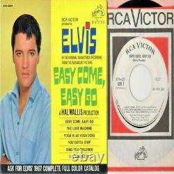 King ELVIS Presley EASY COME, EASY GO RARE ERROR! RCA EPA-4387 WL PROMO NM/EX