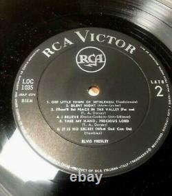 LP 1958 Elvis Presley CHRISTMAS ALBUM RCA Victor LOC 1035 Italy RARE LABEL EX