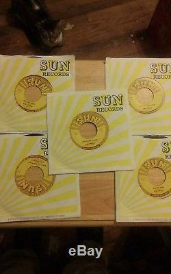 Lot Of 5 Rare Elvis Presley Sun 45s Unplayed