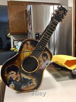 Ltd Ed Bradford Exchange Very Rare Elvis Presley Guitar Cookie Jar-reduced