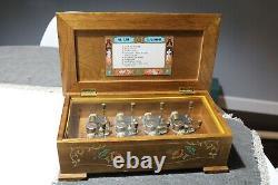 MBK Elvis Presley Music Box Plays 8 Songs with8 Turn Keys by Sankyo Wood RARE