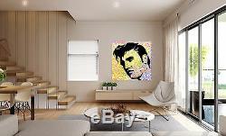 Nik Tod Recreated From Original Painting Large Signed Rare Art Elvis Presley Uk