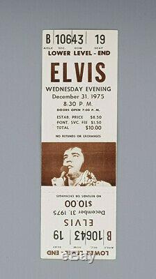 Original December 31. 1975 Elvis Presley rare complete Ticket