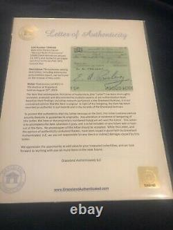 Original Elvis Presley signed check from the Graceland Archives with LOA- RARE