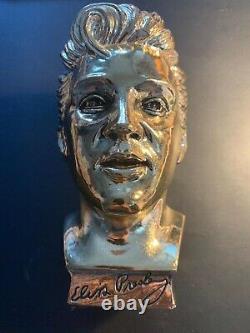 RARE 1961 Elvis Presley Enterprises Gold Bust Statue / EPE / Direct From Memphis