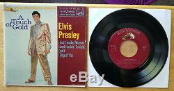 RARE 1s/1s MAROON LABEL Elvis Presley A TOUCH OF GOLD VOL. 1 EPA-5088