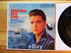 RARE 99% MINT DOG ON SIDE Package Elvis Presley CHRISTMAS WITH ELVIS EPA-4340