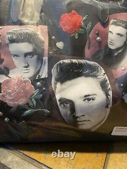 RARE Coach x Elvis Presley Collage Floral Embellished Canvas Tote F25882