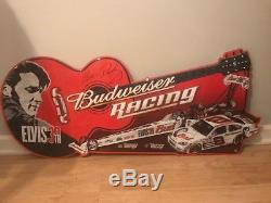RARE DALE EARNHARDT JR ELVIS PRESLEY Budweiser 30th Anniversary Metal Sign
