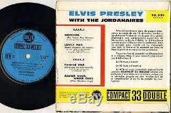 RARE ELVIS PRESLEY COMPACT 33 FRENCH 60'S EP RCA 33001 (blue label)