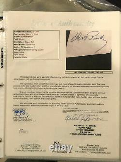 RARE ELVIS PRESLEY SIGNED CUT ON 14X19 DISPLAY With FULL JSA LETTER PSA BAS