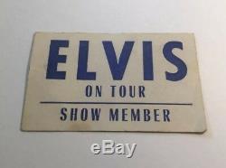 RARE Elvis On Tour Show Member / Estate Of Sonny West