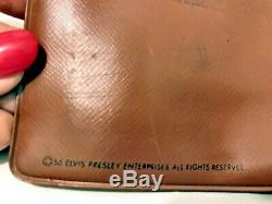 RARE Elvis Presley 1956 Brown Wallet Elvis Front with Song Titles RARE STYLE