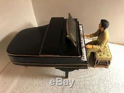 RARE! Elvis (Presley) Rock-N-Roll Piano Cookie Jar/Music Box Black 2001 Vandor