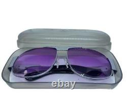 RARE! Elvis Presley TCB Sunglasses EPE VTG with Case Silver Metal Aviator Large