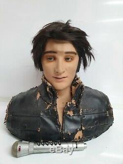 RARE Elvis Presley Wow Wee Animated Singing / Talking Bust Robot