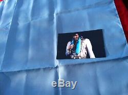 RARE Elvis Presley owned Concert worn Blue Scarf February 21st 1977 Charlotte NC