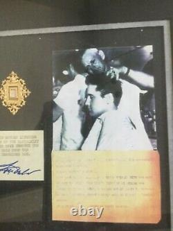 RARE Elvis Presley strand of hair display