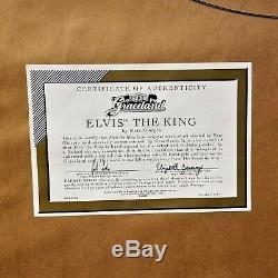 RARE Franklin Mint ELVIS PRESLEY Jailhouse Rock & THE KING Nate Giorgio Artwork