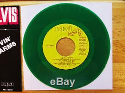 RARE MINT GREEN Vinyl Elvis Presley LOVIN' ARMS JB-12205 withRARE Picture Sleeve