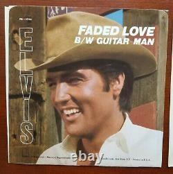 RARE MINT RED VINYL MUSTARD LABEL PROMO Elvis Presley GUITAR MAN JH-12158