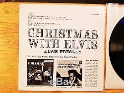 RARE NEAR MINT DOG ON TOP Elvis Presley CHRISTMAS WITH ELVIS EPA-4340