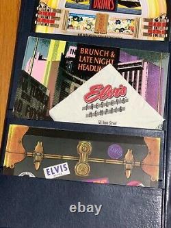 RARE Oversized Elvis Presleys Memphis Leather Menu & More / Direct From Memphis