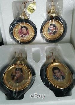 RARE Set of 12 Elvis Presley Sold Gold Bradford Edition Ornaments LOOK NICE