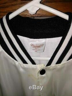 RARE WHITE SILK ELVIS PRESLEY in CONCERT JACKET TCB Patch Lady woman XXL
