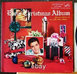 RARE original Elvis Presley ELVIS' CHRISTMAS ALBUM LOC-1035 VG++ FULL BOOKLET