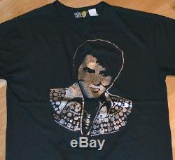 RaRe 1977 ELVIS PRESLEY vintage concert tour t-shirt (M/L) 70's Rock Soul R+B