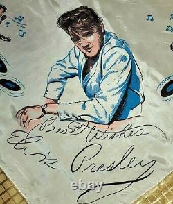 Rare 1956 Early Concert Elvis Presley Enterprises Collectible Scarf