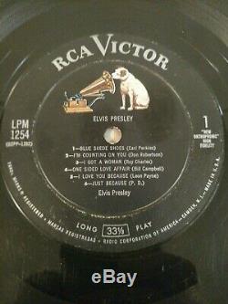 Rare 1956 Elvis Presley LPM-1254 Indianapolis 1S Pressing Side 1 Track 6 P. D